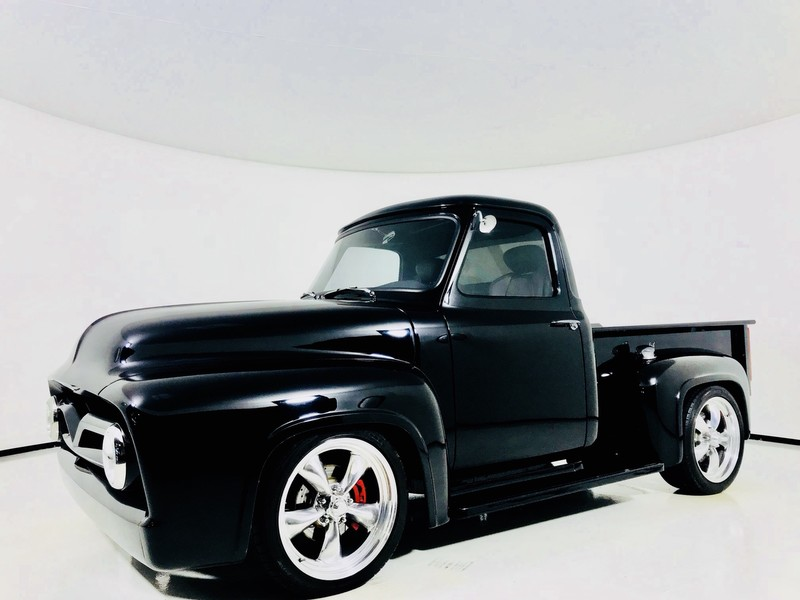 Pre-Owned 1955 Ford F-100 Resto Mod on SVT Lightning Black Lightning