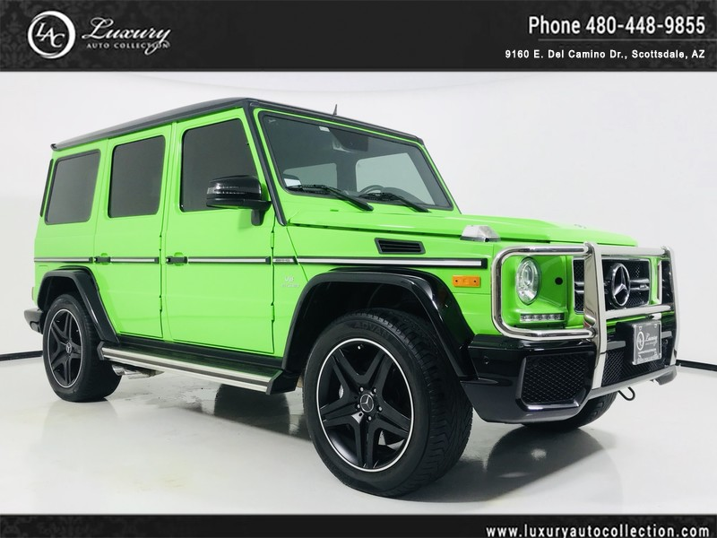 Pre-Owned 2016 Mercedes-Benz G-Class AMG® G 63 4MATIC in Alien Green (MSRP $188K)