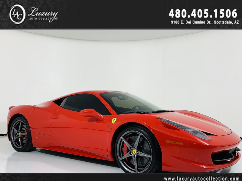 Pre-Owned 2014 Ferrari 458 Italia Coupe in Rosso Corsa