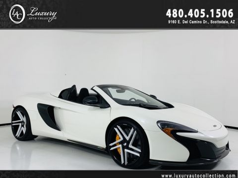 Pre-Owned 2015 McLaren 650S Convertible Spider in Pearl White