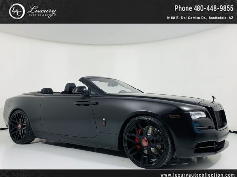 Pre-Owned 2018 Rolls-Royce Dawn Convertible in Black Wrap