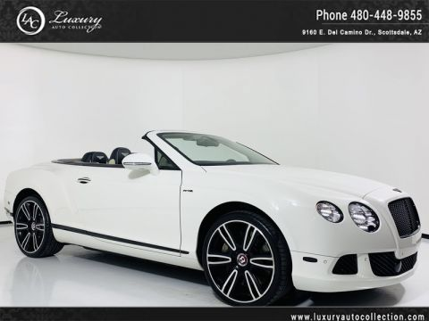 Pre-Owned 2014 Bentley Continental GT Speed Convertible in Glacier/Linen