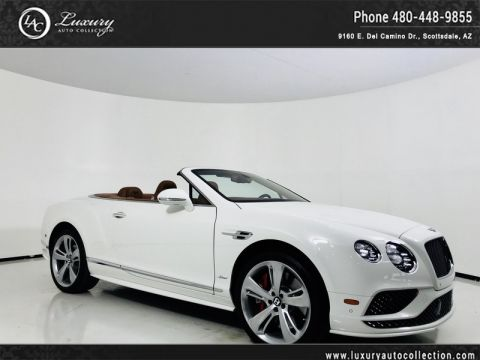 Pre-Owned 2016 Bentley Continental GT Speed Convertible in Glacier/Saddle