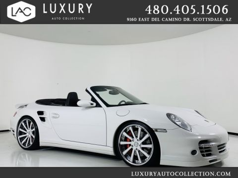 Pre-Owned 2008 Porsche 911 Turbo Cabriolet w/ Gated 6-Spd