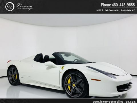 Pre-Owned 2014 Ferrari 458 Italia Convertible Spider with Lifter